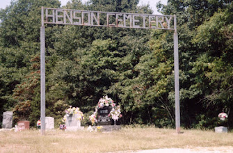 """Photo: Henson Cemetery in Wayne County, IL (near Zenith). A Community of Christ Church (Brush Creek) is nearby, including retreat facilities. Henson Cemetery at Find a Grave showing many grave sites, including those of John F. """"Blackberry"""" Henson, his son Jerry, and grandson John, Leigh's grandfather: http://www.findagrave.com/cgi-bin/fg.cgi?page=cr&CRid=106118&CScn=Henson+Cemetery&CScntry=4&CSst=16&"""