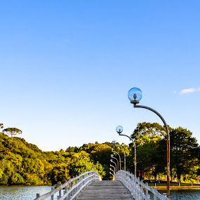 Bridge to heaven by Josiê Calera - Landscapes Travel ( wood, blue, green, white, bridge, travel, pwcpaths )
