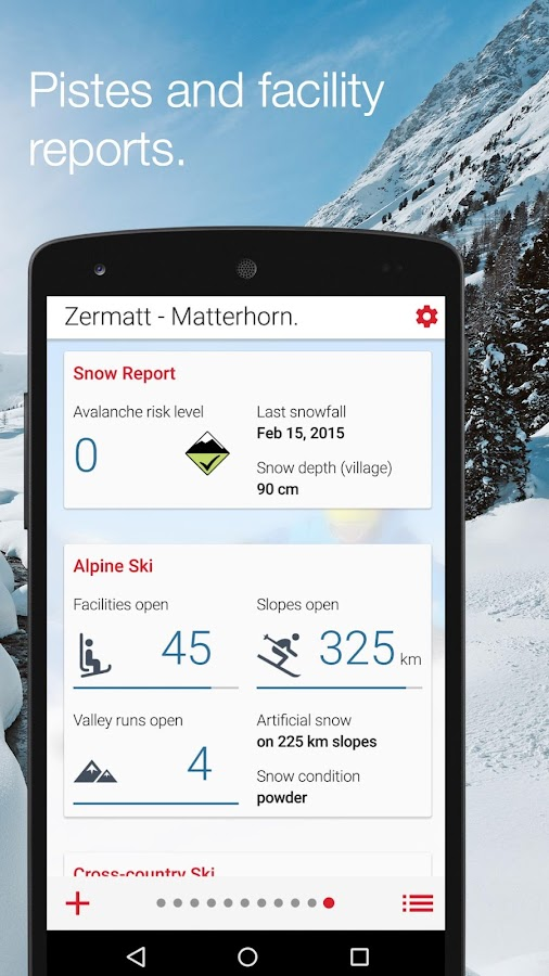 Swiss Snow Report- screenshot