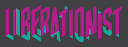 Liberationist Logo over black background