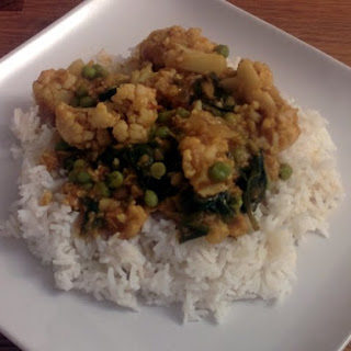 Cauliflower, Spinach and Red Lentil Dal