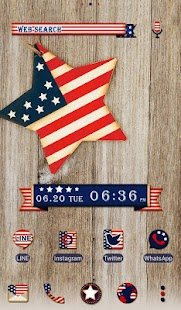 Pretty Wallpaper U.S.A. Flag Star Theme- screenshot thumbnail