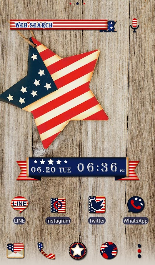 Pretty Wallpaper U.S.A. Flag Star Theme- screenshot