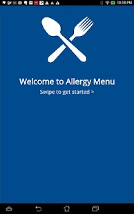 Food Allergy Menus- screenshot thumbnail