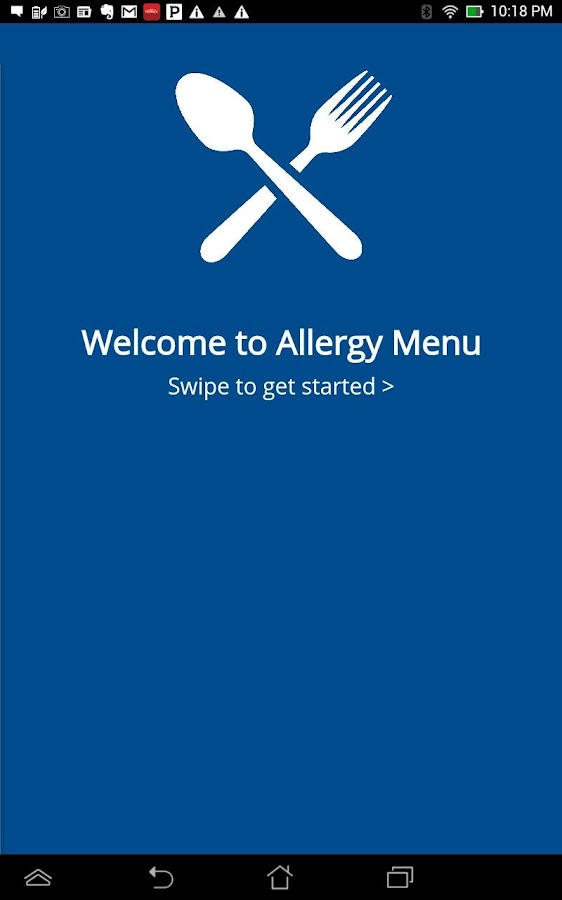 Food Allergy Menus- screenshot