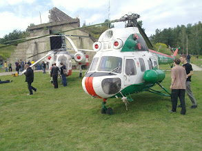 Photo: old east-german police helicopter, lecture bunker