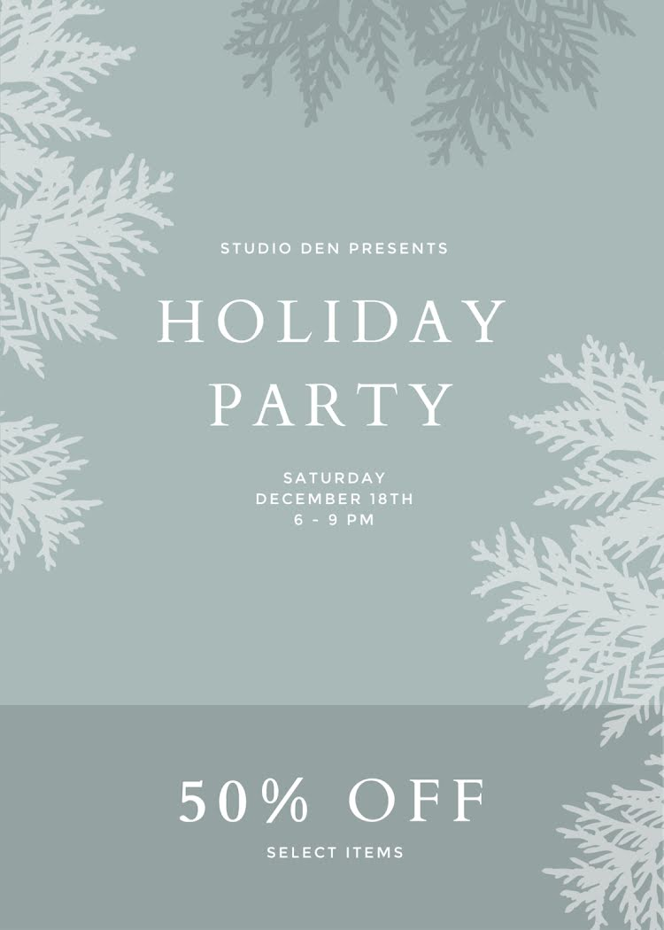 Holiday Party Discount - Christmas Card Template