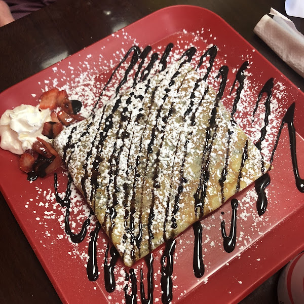 GF Strawberry Crepe!!!! Absolutely perfect!