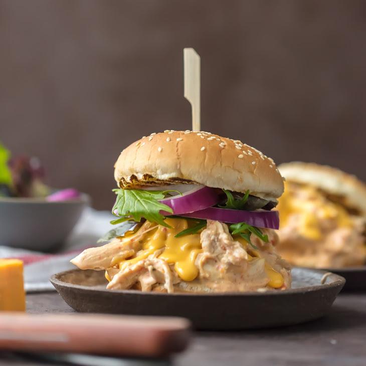 Slow Cooker Rotel Dip Chicken Sandwiches Recipe