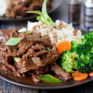 Pressure Cooker Mongolian Beef.