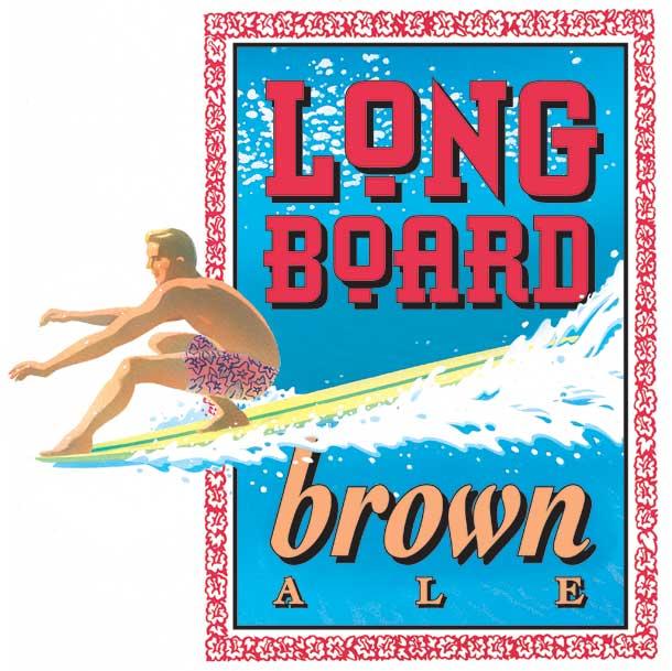 Logo of Rock Bottom La Jolla Longboard Brown