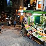 Hong Kong streets by night in Hong Kong, , Hong Kong SAR