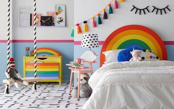 A Rainbow- bright Bedroom