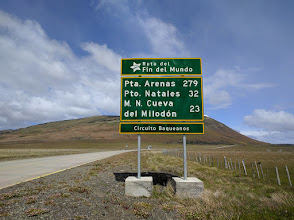 """Photo: The aptly named """"road at the end of the world"""" from Torres del Paine National Park to Punta Arenas."""