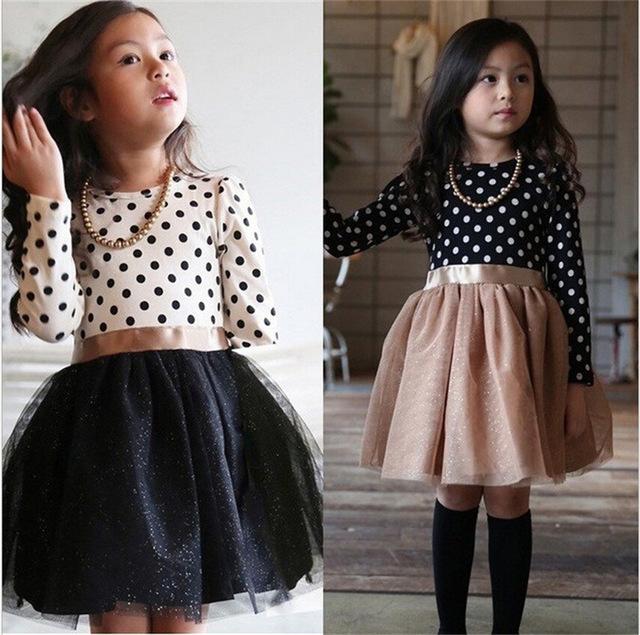 Sukienka w groszki dla dziewczynki - sukienki dla dziewczynek w kropki