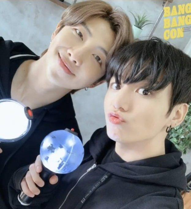 bts-rm-and-jungkook-show-their-excitement-for-bang-bang-con-by-posing-for-the-most-adorable-selfie
