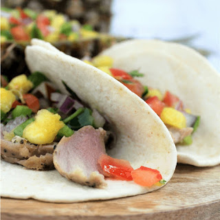 Pork Tacos with Pineapple Salsa.