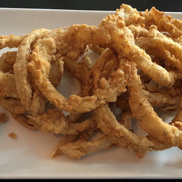 Gluten free onion rings! Absolutely Delicious!