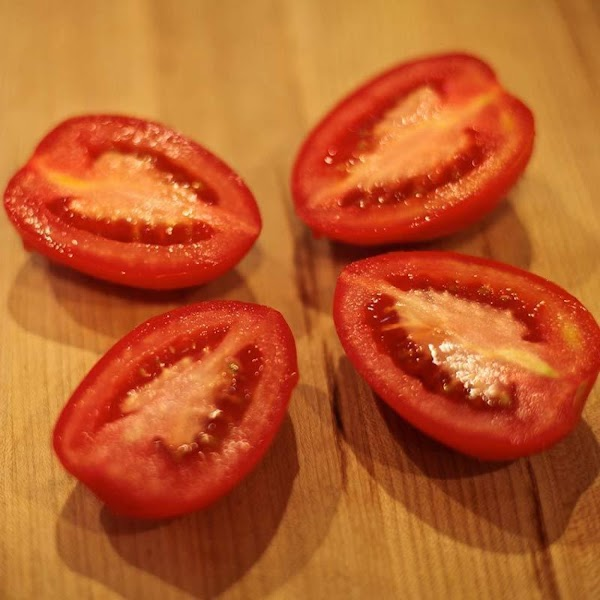 Because of their high meat-to-seed ratio, we want plum tomatoes, of the San Marzano...