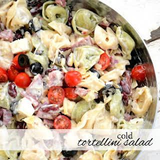 Cold Tortellini Salad.