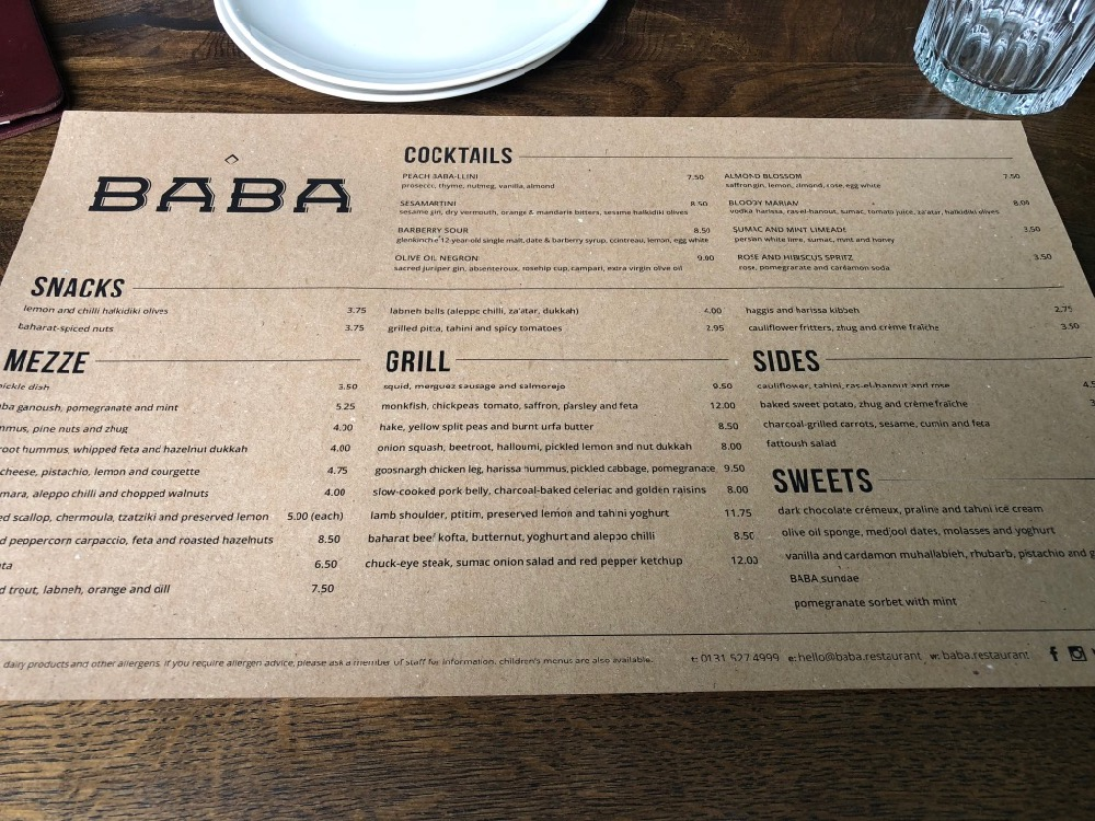 Baba Restaurant Review - Hidden Edinburgh