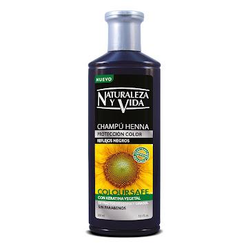 Shampoo Naturaleza y Vida Henna Reflejos Negros Coloursafe x300Ml