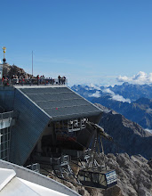 Photo: Gondola Approaches the Zugspitze Summit Station