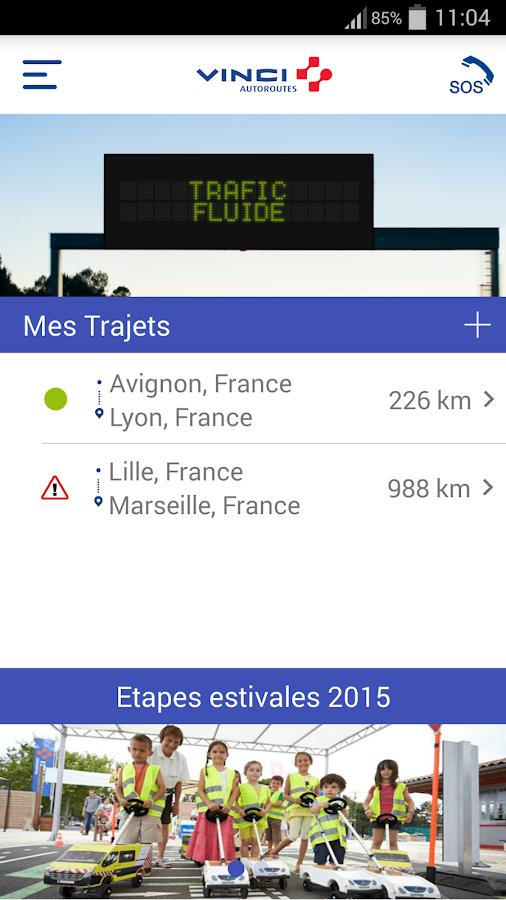 VINCI Autoroutes- screenshot