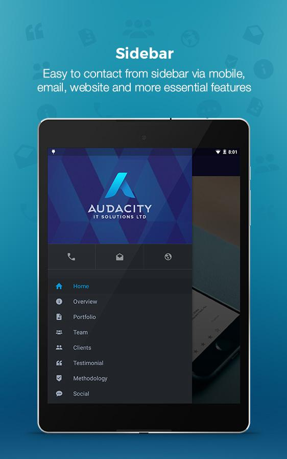 Audacity - Marketing App- screenshot