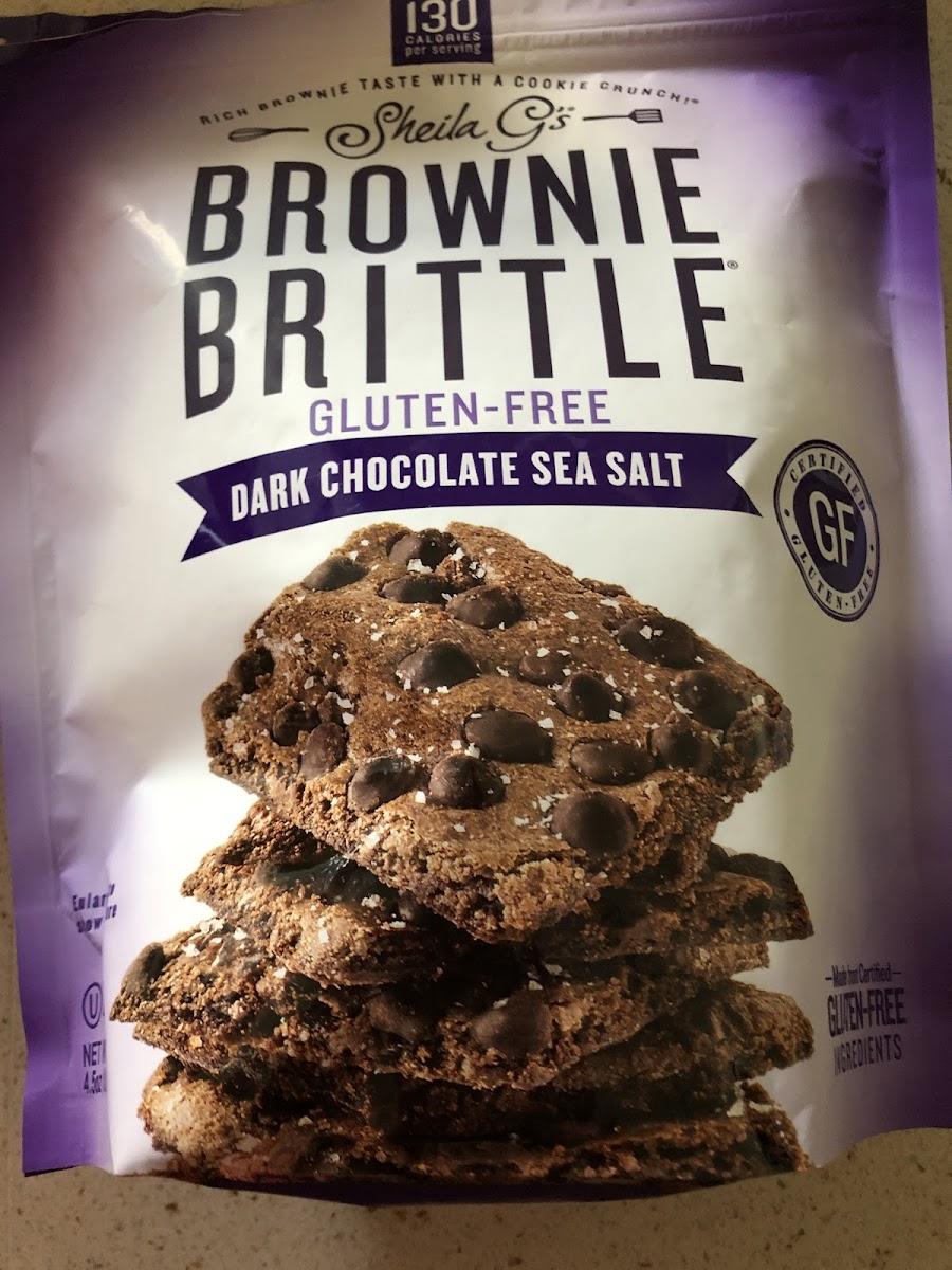 Brownie Brittle, dark chocolate sea salt