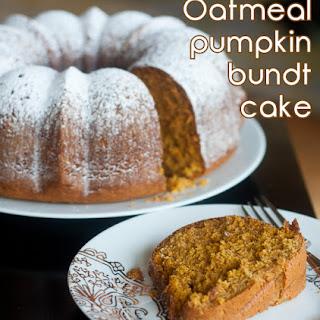 Oatmeal Pumpkin Bundt Cake
