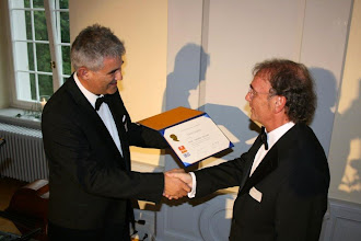 Photo: Look at that:  Crispino Bergamaschi, President of the Rotary Club of RC Freiamt, in Muri,Switzerland presenting Klaus with a Paul Harris Fellow! - 12 June 2010