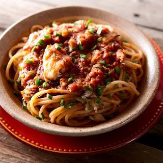 Spaghetti with Crab Sauce.