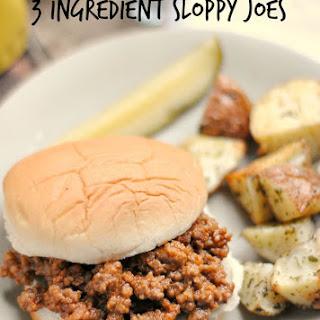 3 Ingredient Sloppy Joes.