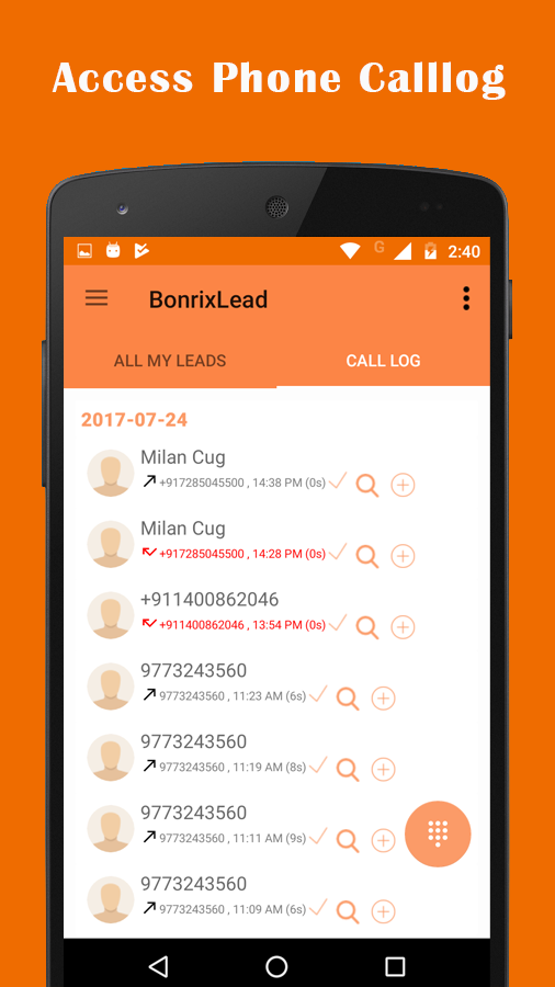 BONRIXCRM for Inbound Call Center- screenshot