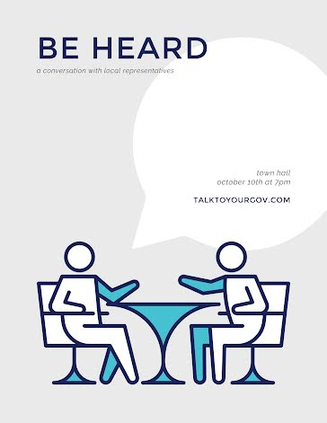 Be Heard Town Hall - Flyer template