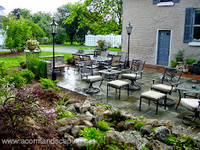 Photo: Natural Slate Stone and Brick #PatioDesign and Installation in Monroe County, Brighton NY by Acorn Ponds & Waterfalls, #PatioInstaller/ Builder and Designer of Rochester NY   Acorn Ponds & Waterfalls, Certified Aquascape Contractor since 2004. Check out our website www.acornponds.com and give us a call 585.442.6373.  To learn more about landscape design please click here: www.acornponds.com/landscape-design.html  Tom, You did such a wonderful job on our outdoor patio and landscaping. The brick and slate compliment each other very well. The highlight of our patio is the waterfall, stream and landscaping. These features make the space and extension to our home. Family and friends always love relaxing while listening to all the birds that now visit because of the waterfall and stream. It looks like it has been there forever! We thank you, Tom very much. The space that you designed and executed turned out absolutely perfect. The landscape lighting adds such a nice touch to all the trees and really displays the focal point of the space, the waterfall and stream. Your workmanship was meticulous and it really shows that you enjoy what you do. Thanks again, George and Maria Sirodenko Brighton, NY   For more info about our brick, paver & stone patio installations service in Rochester NY click here: http://www.acornponds.com/patios.html   For more info about George & Maria's amazing project please click here: www.facebook.com/notes/acorn-landscaping-landscape-designlightingbackyard-water-gardens/stone-and-brick-patio-repair-led-lighting-water-feature-and-landscaping-in-brigh/326928104010985  Acorn Ponds & Waterfalls of Rochester NY, 585-442-6373, is a Certified Aquascape Contractor, Landscape Designer, Outdoor Lighting Designer, Installer, Builder, Contractor and Design Service Company from Rochester, NY. We have professional Installation and Design Services available for the following: Landscape Design  Outdoor Room Design Backyard Ponds and Waterfalls Design & Construction Patios and Walkways: Paver, Stone, Brick Low Voltage Landscape Lighting LED Landscape Lighting Swimming Ponds Ecosystem Ponds LED Outdoor Lighting Retaining Walls Fountains  Water Features Pondless Waterfalls Pond Maintenance and Design Aquatic and Under Water LED Lights Bubbling Boulders and Urns Natural Stone Patios and Rock Gardens Garden Ponds Outdoor Kitchens Pizza Ovens Fire Pits Fish or Koi Ponds Waterfall Ponds Low Maintenance Plantings Commercial Landscape Design Residencial Landscape Design Drainage Issues, Solutions Aquascape Rainwater Collection Systems  We serve Pittsford NY, Penfield NY, Brighton NY, Fairport NY, Webster NY, Greece NY, Victor NY, Henrietta NY, Irondequoit NY, Rush NY  Click here for a free Magazine all about Ponds and Water Features: http://flip.it/gsrNN  Find us on Houzz here: www.houzz.com/pro/acornlandscapedesign/acorn-landscaping-and-ponds-llc  Contact Acorn Ponds & Waterfalls, Certified Aquascape Contractor since 2004 now! 585.442.6373 or please click here: www.acornponds.com/contact-us.html