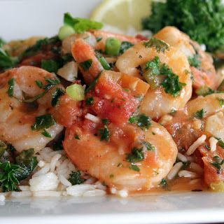 Spicy Shrimp Scampi with Muir Glen® Organic Tomatoes.