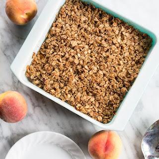 Healthy Breakfast Peach Crisp