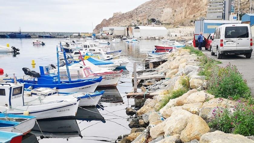 Actuales atraques de los barcos pesqueros artesanales