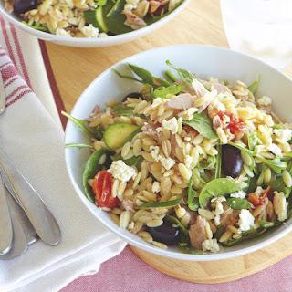 Warm Tuna and Orzo Salad.
