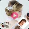 Hairstyles video tutorials icon