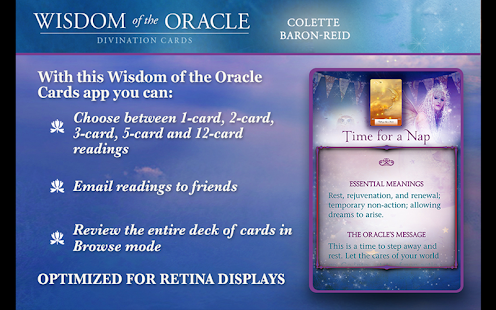 Wisdom of the Oracle Cards- screenshot thumbnail
