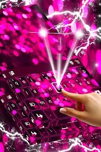 Bokeh Pink Keyboard Theme - náhled