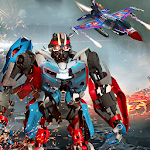 Air Force Fighter Jet Robot Transformation Games Icon