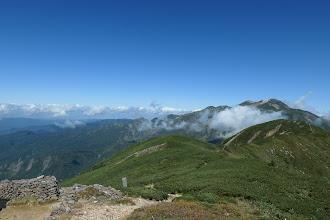白山釈迦岳方面
