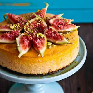 Fig, Pistachio & Cinnamon Souffle Cheesecake.