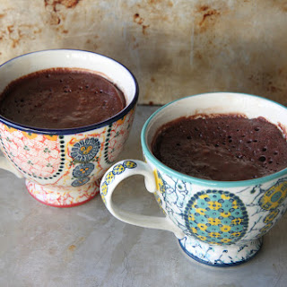 Chocolate Brownie Mug Cake (gluten free, vegan).