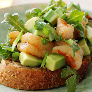 Grilled Shrimp and California Avocado Open-Faced Sandwich