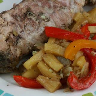 Pineapple Pork Tenderloin CrockPot.